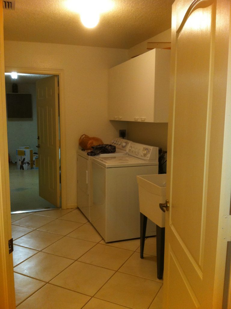 My current project – the laundry room