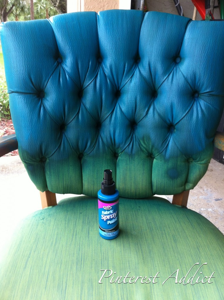 Pinterest Addict Tulip Fabric Spray Paint Chair  : green blue chair1 764x1024 from www.apinterestaddict.com size 764 x 1024 jpeg 195kB