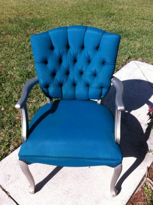 Tulip Fabric Spray Paint Chair Update