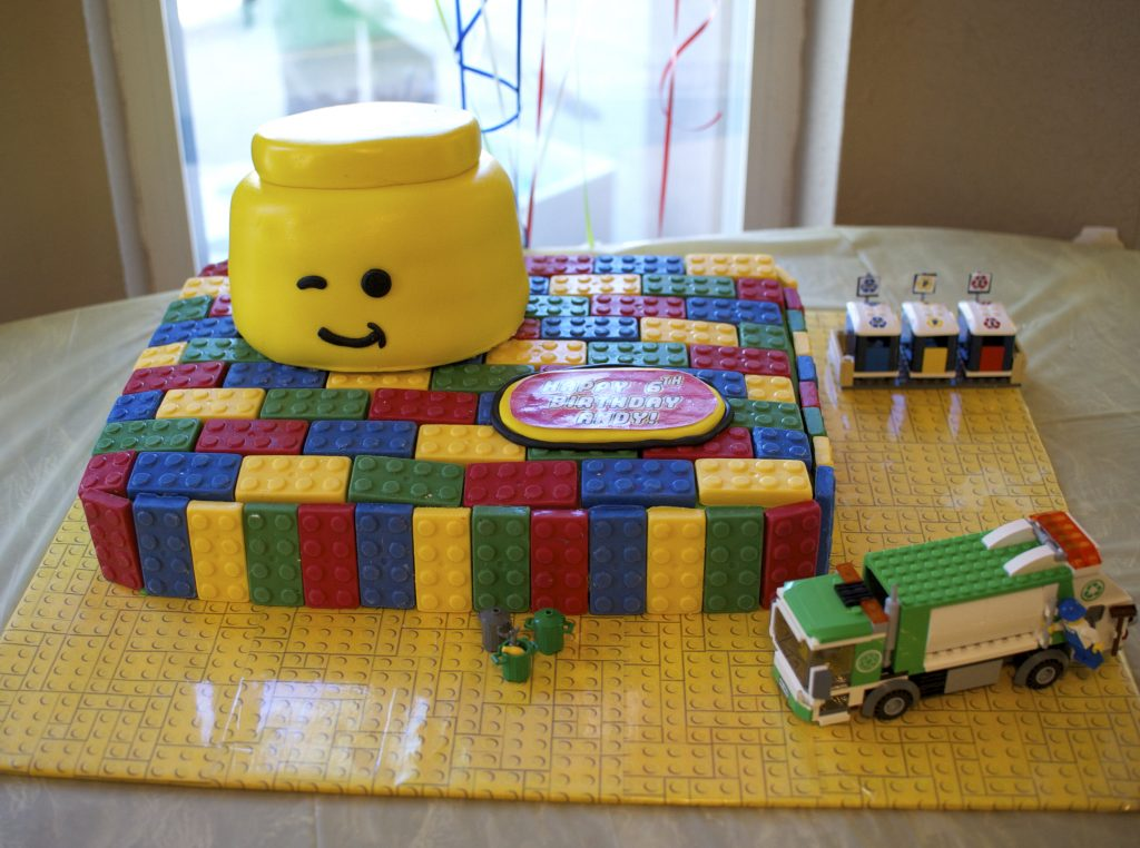 Lego Cake - Lego theme birthday party