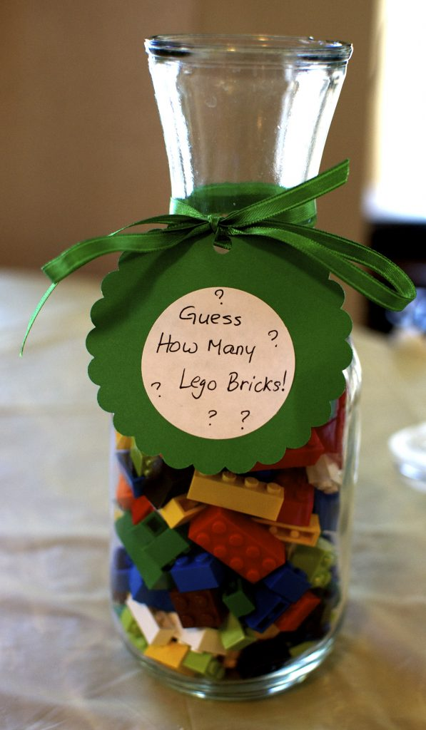 Guess how many Legos - Lego theme birthday party