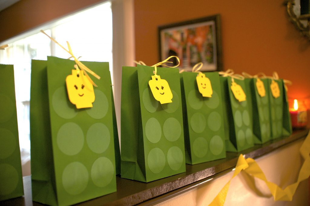 Goody Bags - Lego theme birthday party