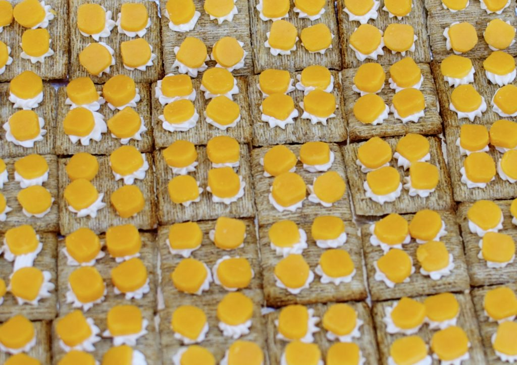 Cheese and Crackers - Lego theme birthday party