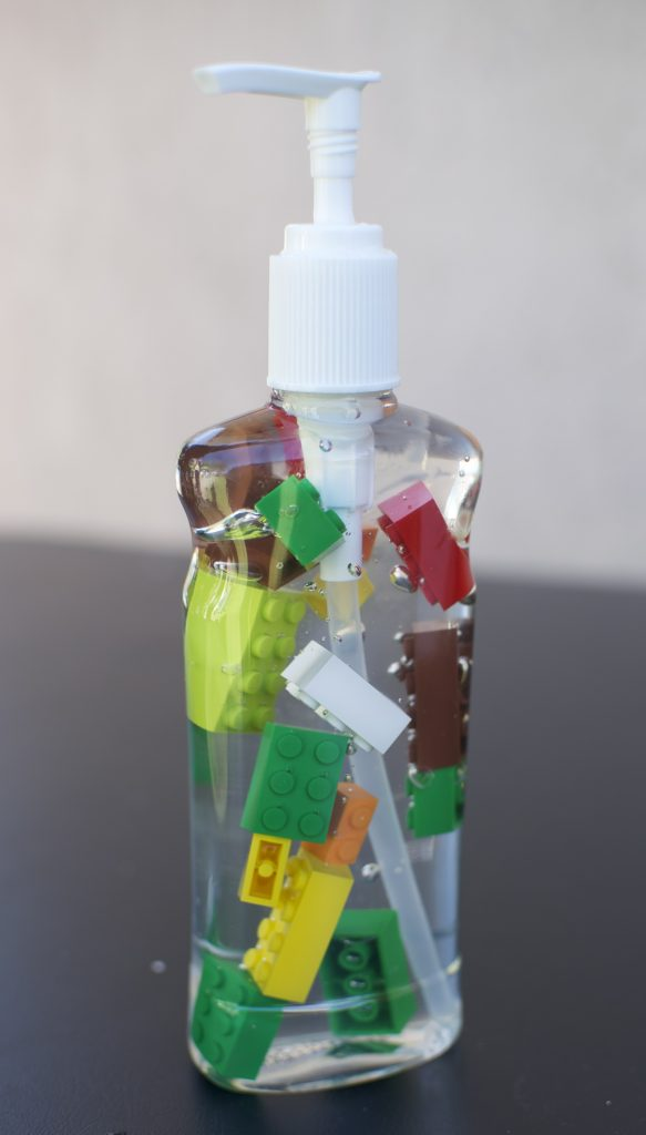 Hand Sanitizer - Lego theme birthday party