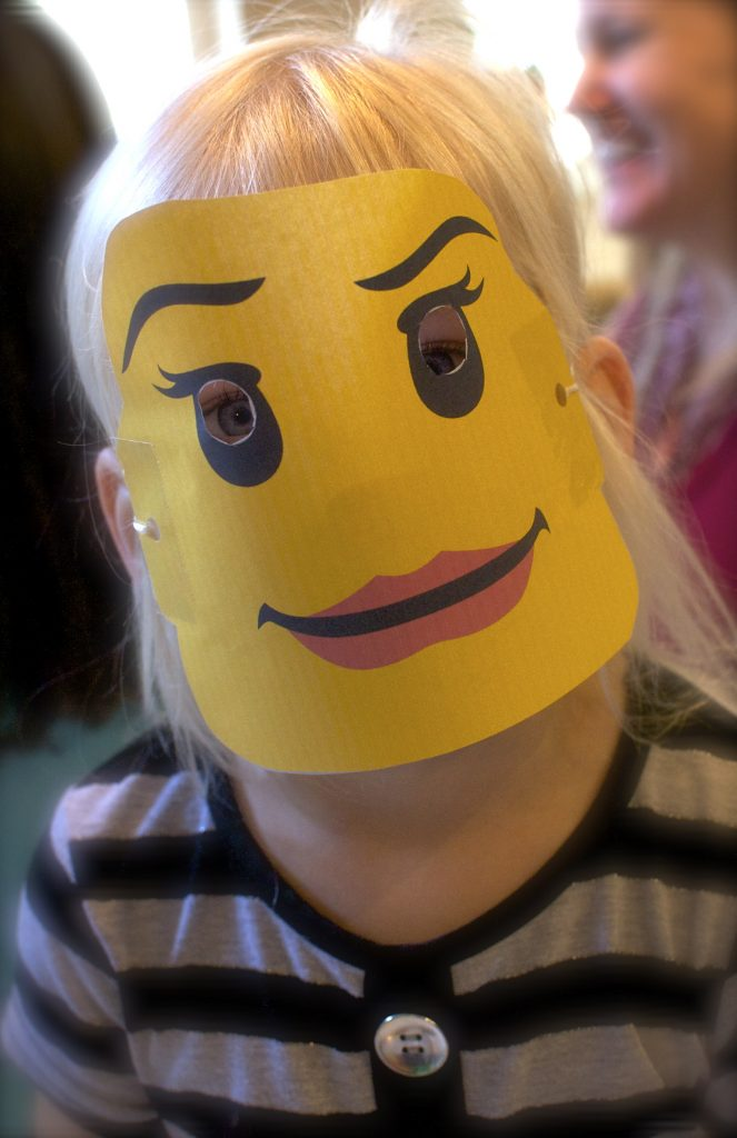 Love the lipstick - Lego theme birthday party
