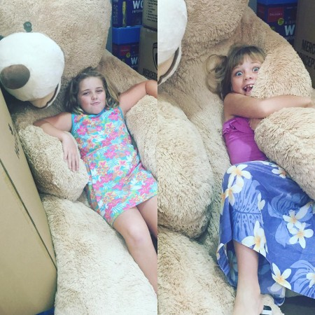 Costco has a crazy big bear The girls decided ithellip