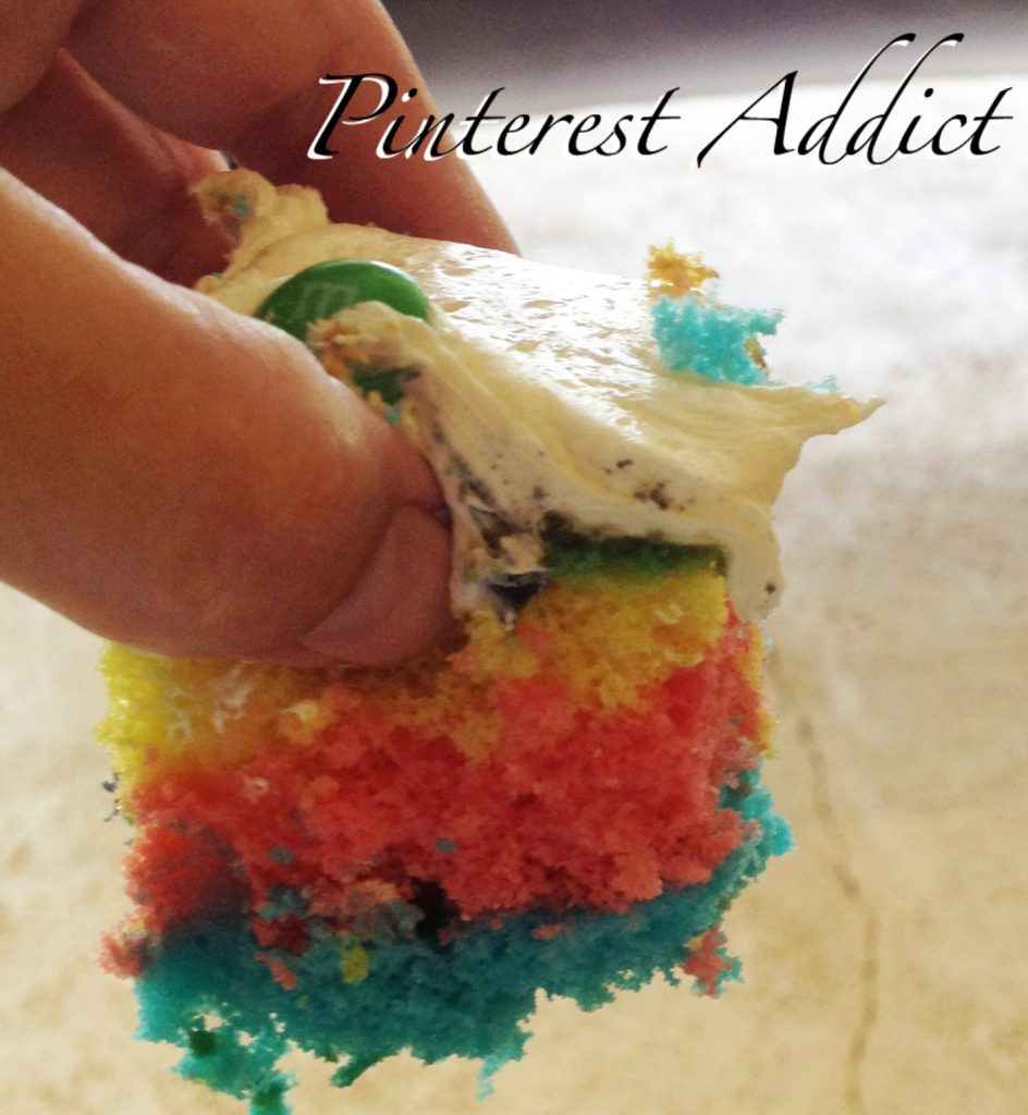 Check out how to make this rainbow cake - and more ideas for a Olympics themed birthday party on the blog!