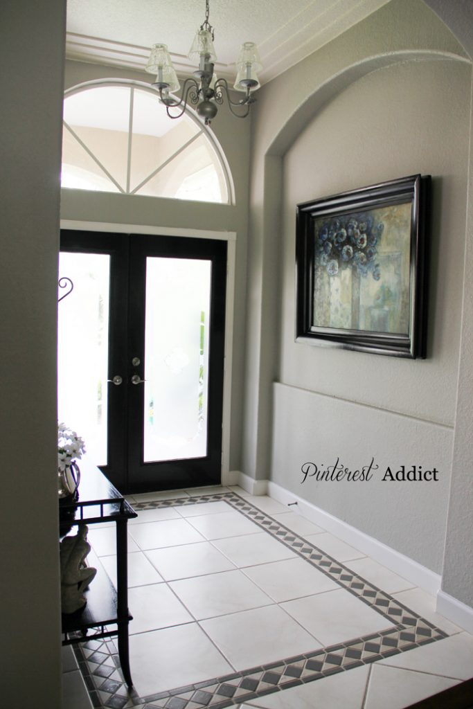 Painting Floor tile - Painting Floor tile Entry way tile update