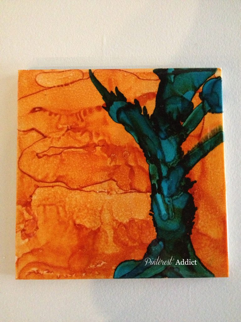 Green tree - alcohol Ink - Pinterest Addict