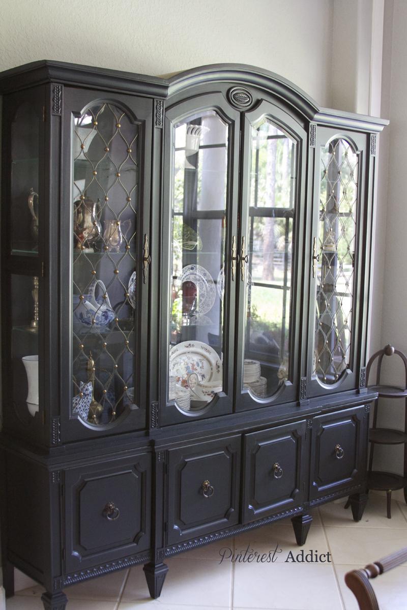 black china cabinet pinterest addict. Black Bedroom Furniture Sets. Home Design Ideas