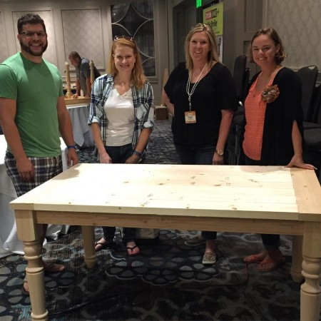 We totally made this table!! Its being donated to Habitathellip