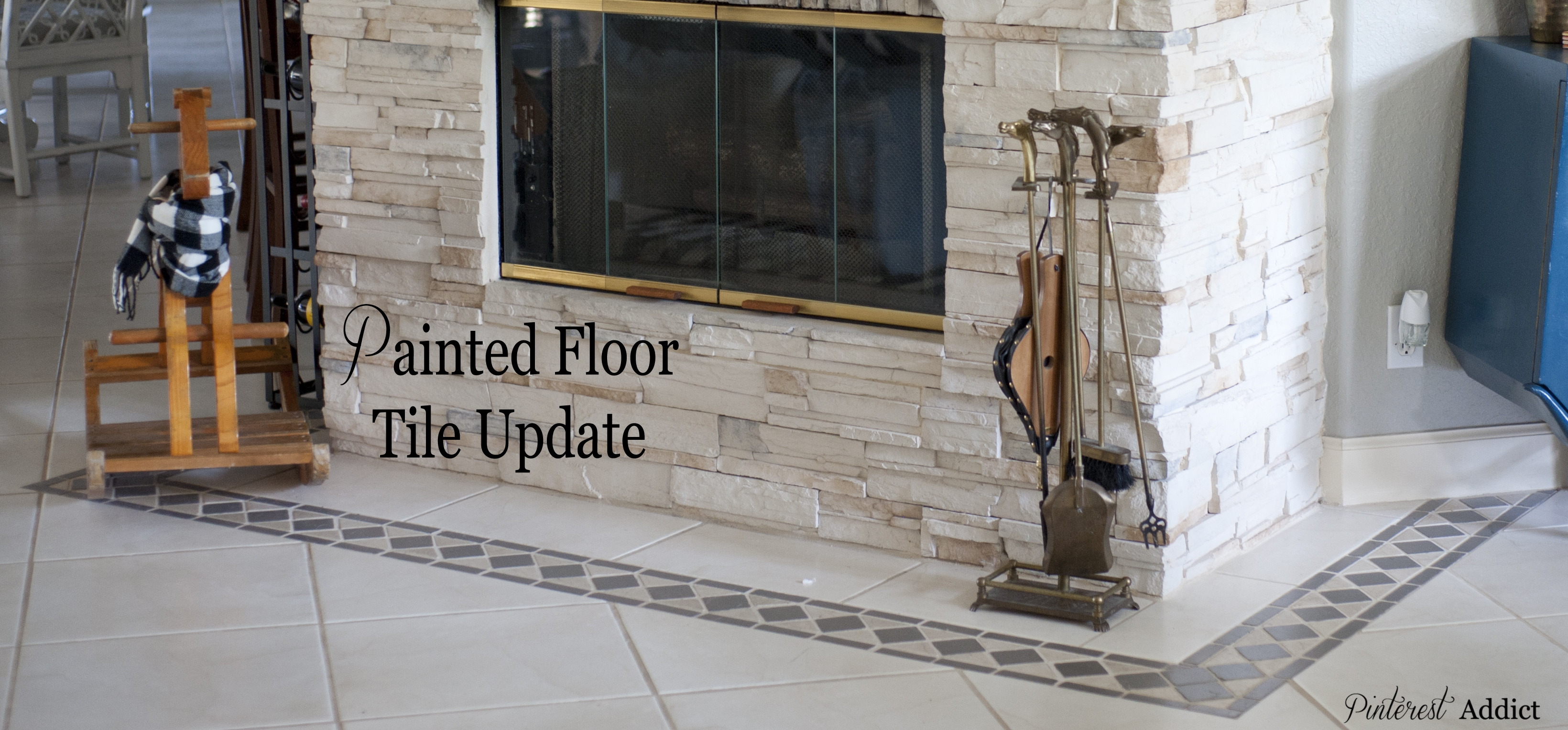 Painted Floor Tile Update Pinterest Addict