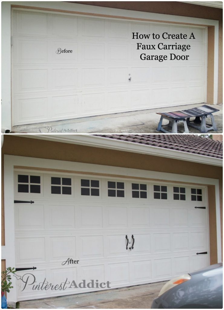 Faux Carriage Garage Door Before And After