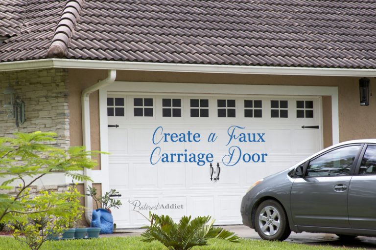 How to Create a faux carriage garage door