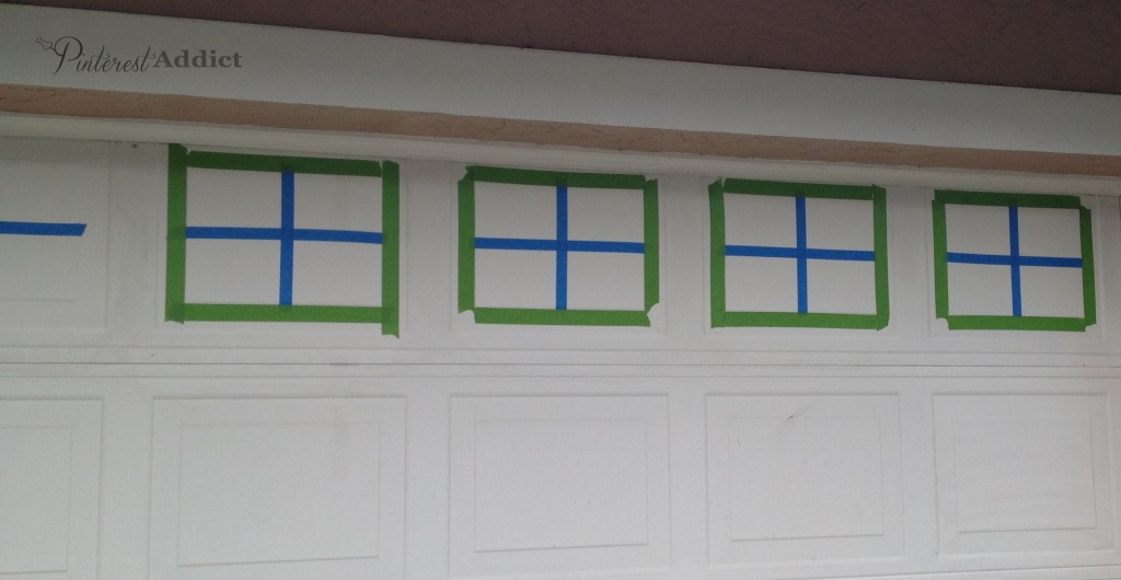 Genial Faux Carriage Garage Door   Frog Tape Around The Outside To Keep The Lines  Straight