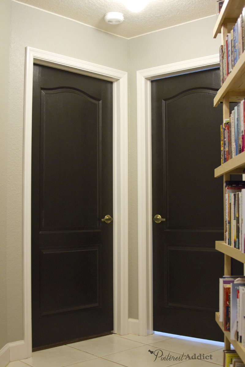 Painting the interior doors black for Painted interior door designs