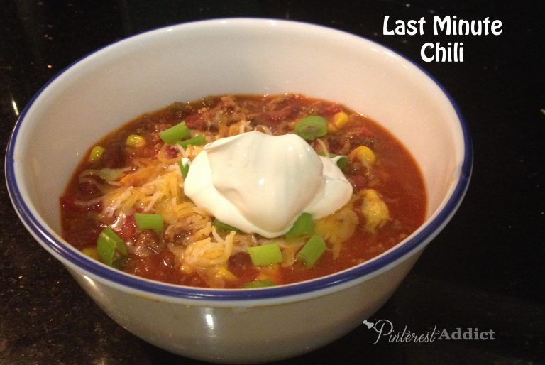 My Favorite Comfort Food: Last Minute Chili – Blog hop and Link Party