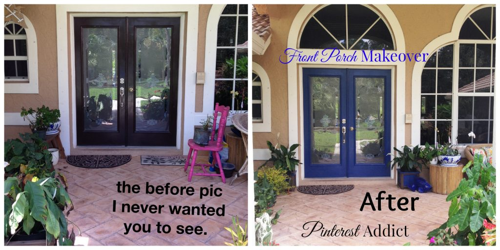 Front Porch Makeover before and after