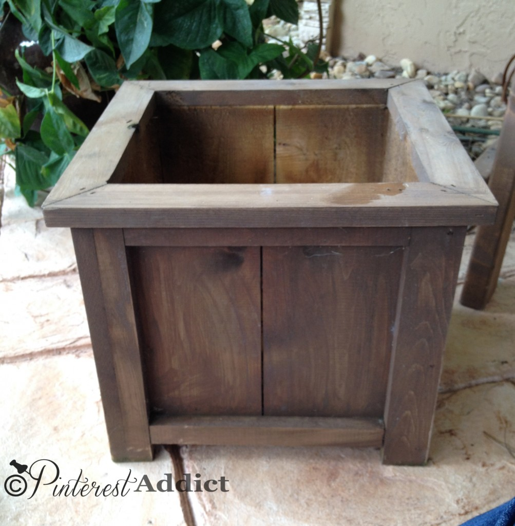 wood planter before