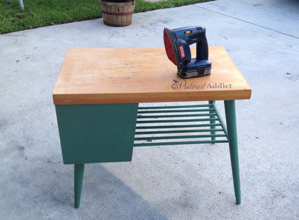 mid century modern end table