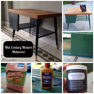 Mid Century Modern End Table Makeover