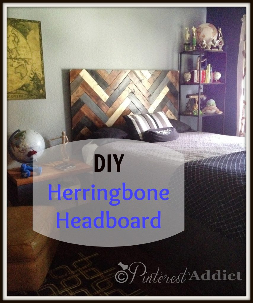 Herringbone Headboard Tutorial