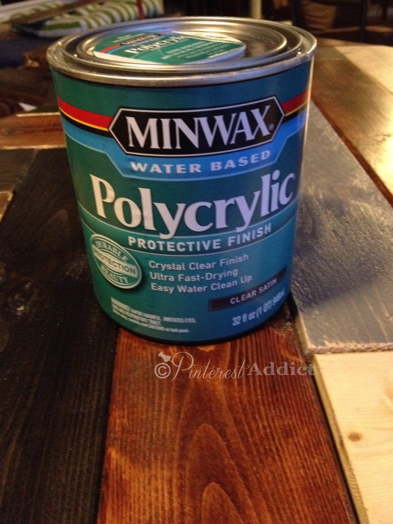 How to make a DIY Herringbone Headboard Minwax Water Based Polycrylic