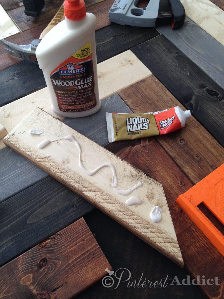 How to make a DIY Herringbone Headboard