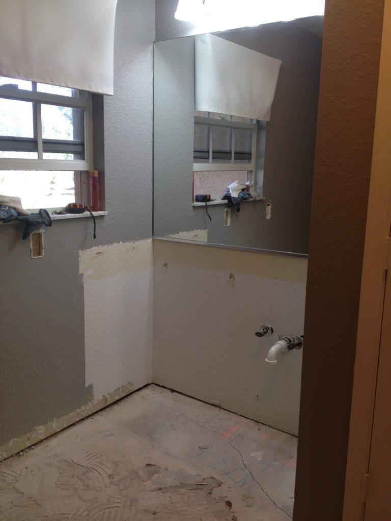 Guest Bathroom Vanity removed