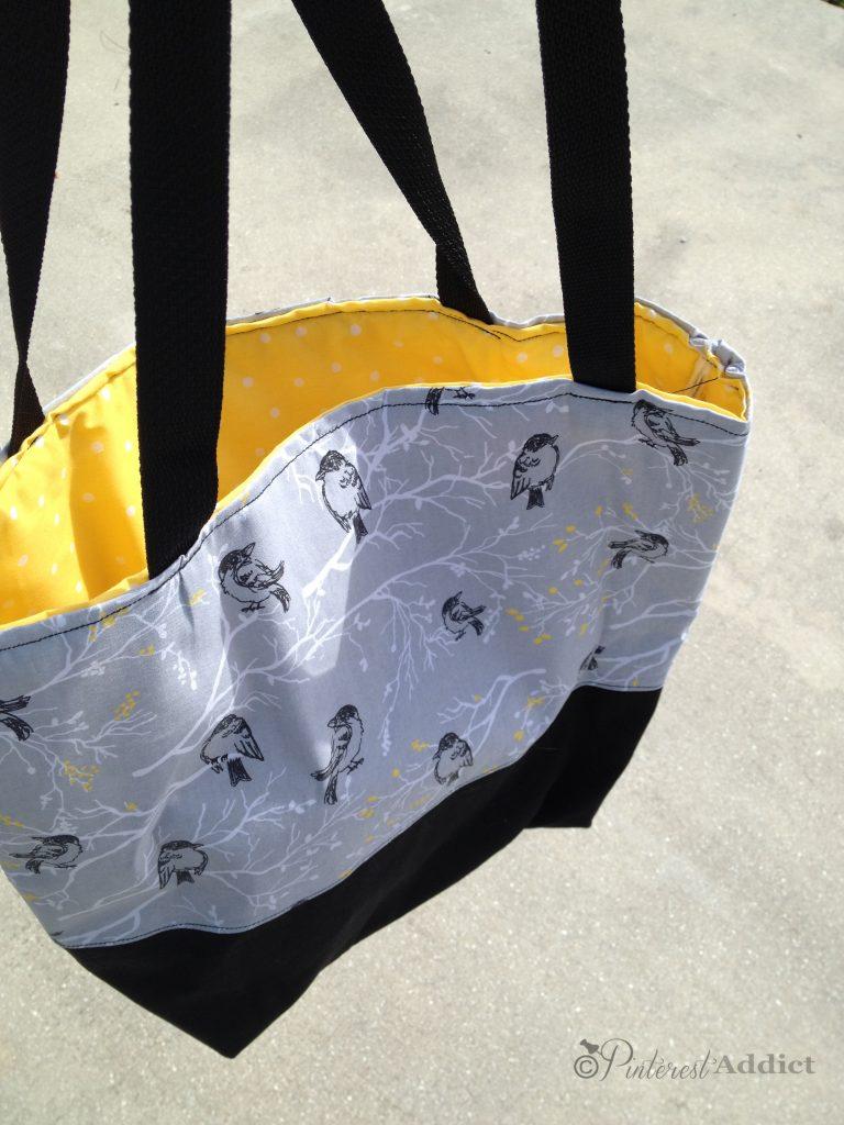 DIY handbag gray yellow black