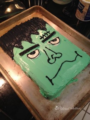 Pins I've Tried – Frankenstein Cake