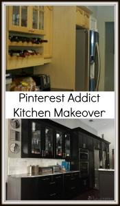 Kitchen Makeover - Pinterest Addict - Black Ramsjo Ikea Kitchen