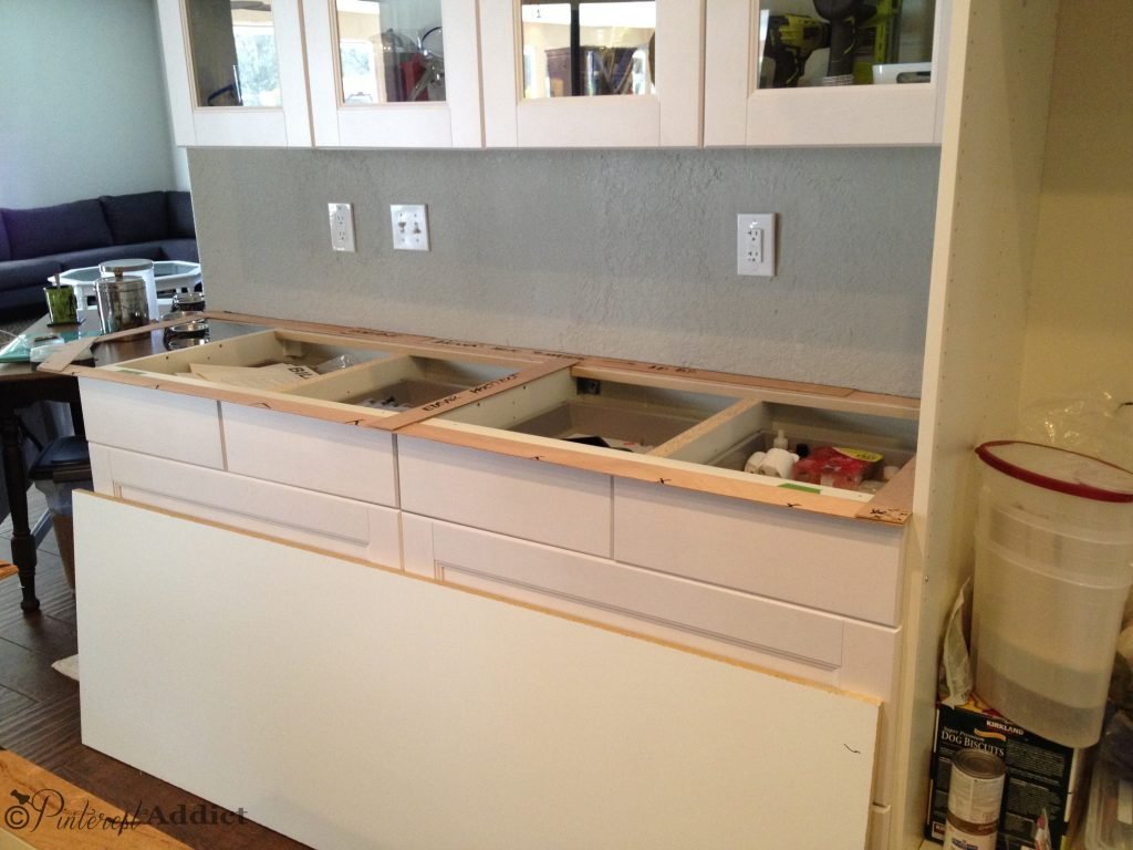 Ikea cabinets installed - no counters