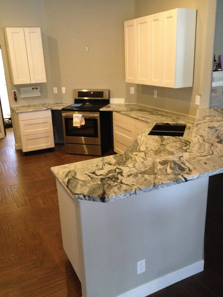 granite counters installed