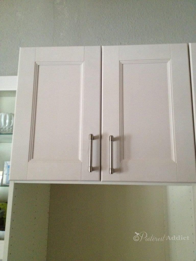 Pink Ikea cabinets