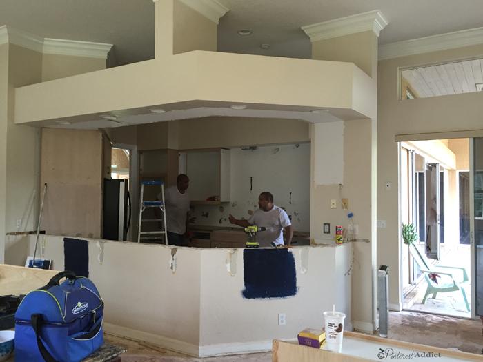 kitchen demo step one
