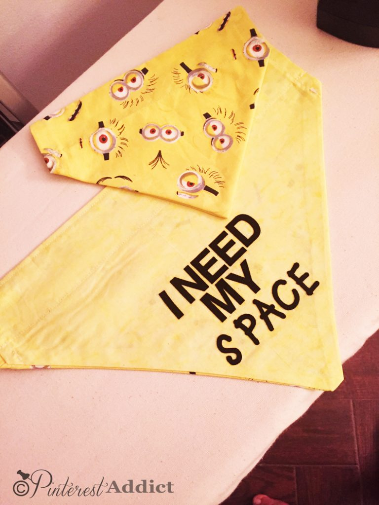 Pins I've tried: I Need My Space Dog Bandana