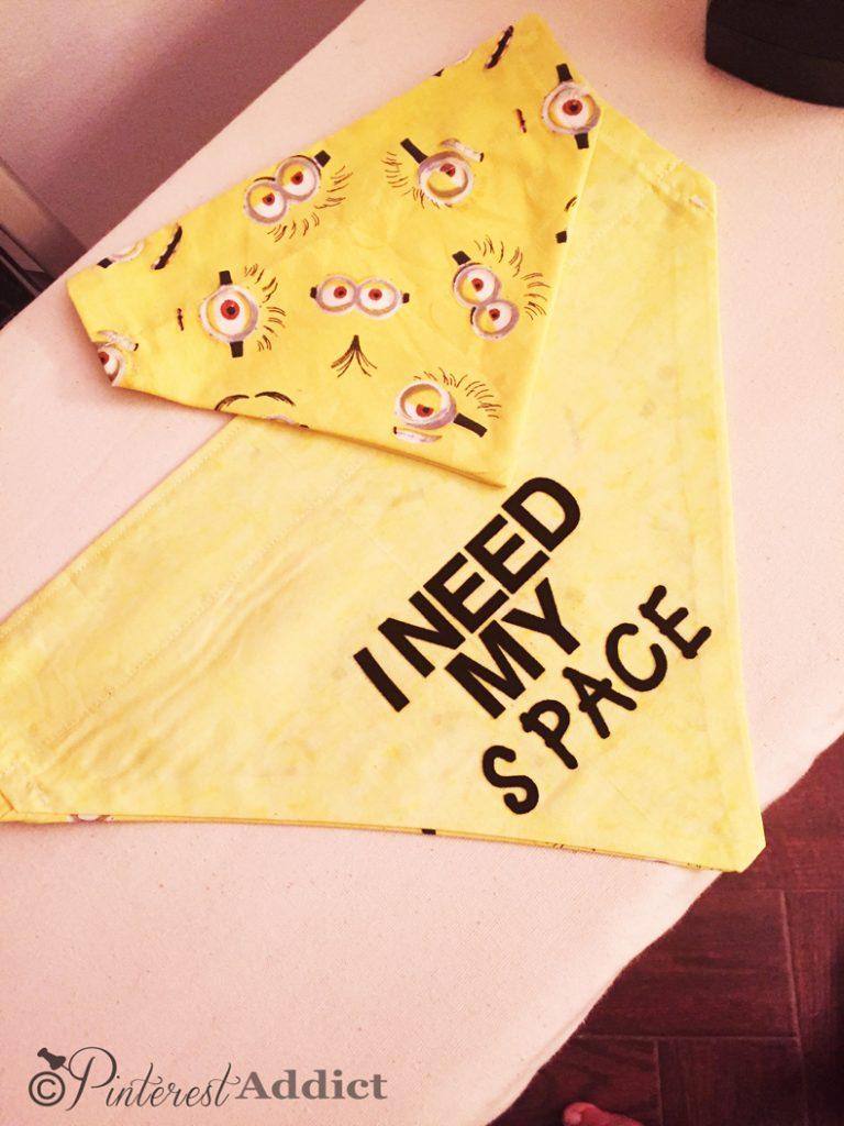 I Need my Space - dog anxiety bandana - I Need my space dog bandana