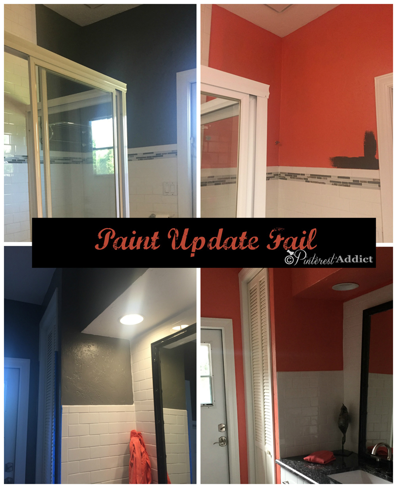 Why You Shouldn't Pick a Paint Color from Pinterest - Dovetail Gray to Coral Reef - Pinterest inspired paint color fail
