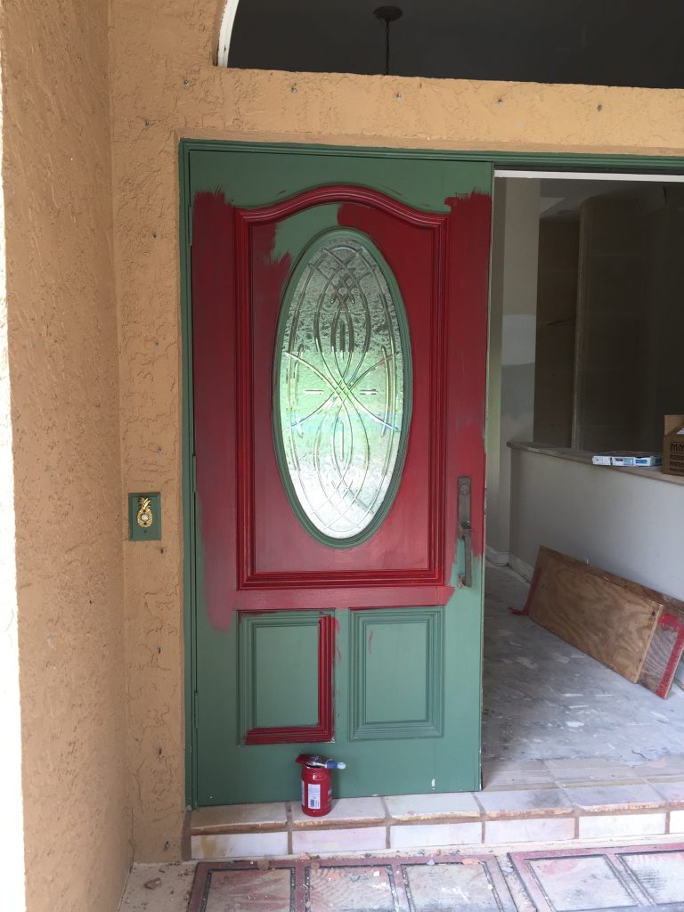 attractive painting a front door design