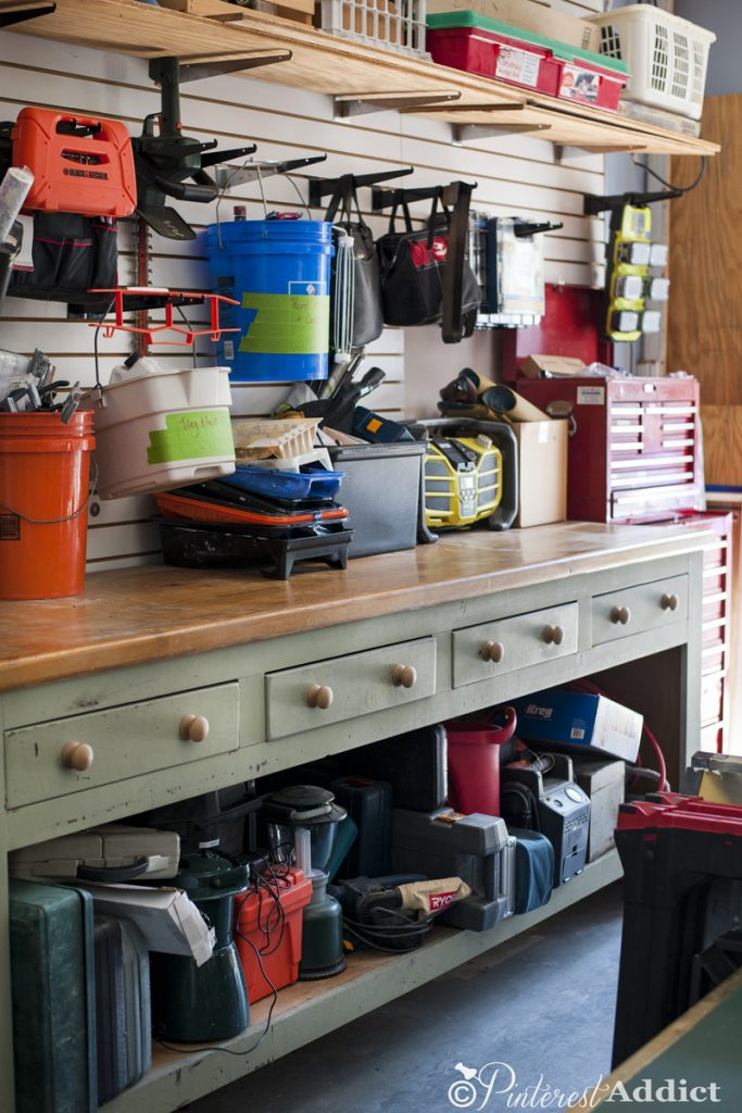 Workbench and storage solutions for parts and pieces