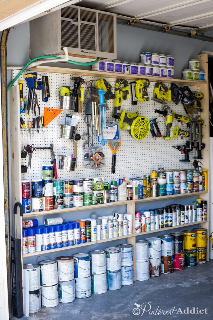 Pegboard Wall - DIY - Good Housekeeping Spring Cleaning Challenge - Garage Makeover