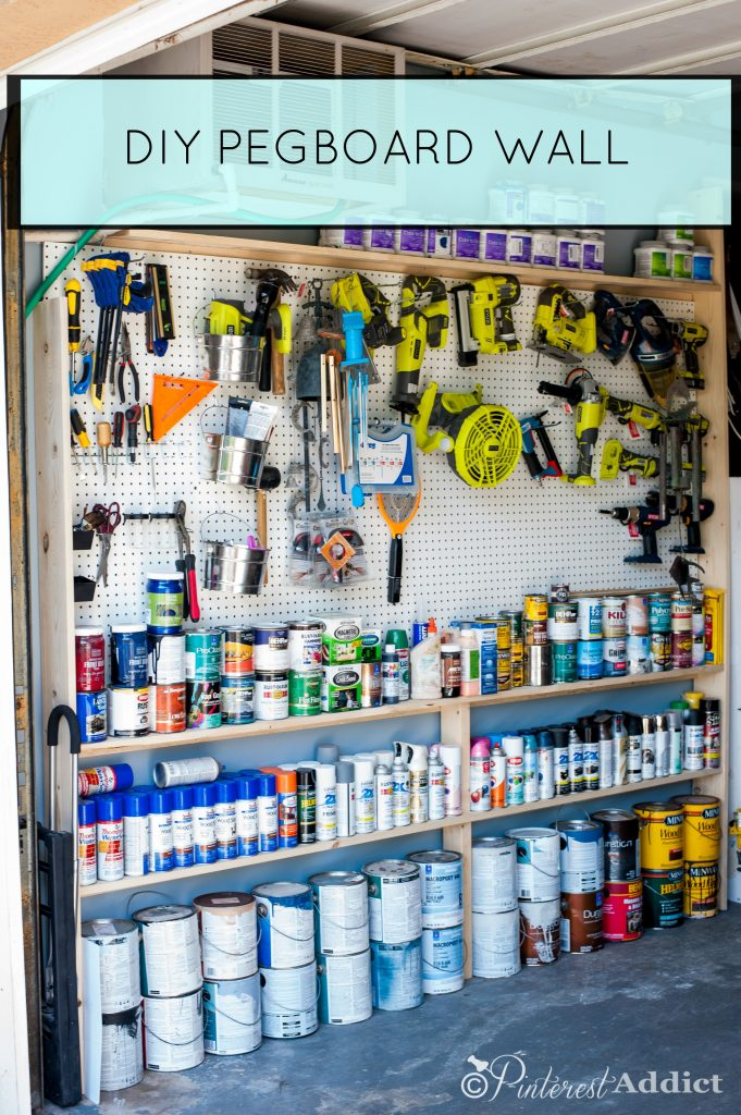 Pinterest Addict DIY Pegboard - Good Housekeeping Spring Cleaning Challenge - Garage Makeover