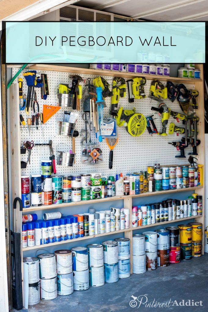 Pinterest Addict DIY Pegboard - Good Housekeeping Spring Cleaning Challenge - Garage Makeover
