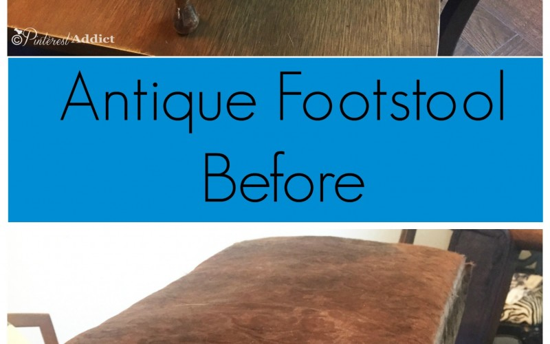 How to Reupholster a Footstool the Easy Way