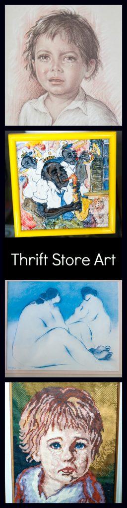 thrift store art - pinterest addict
