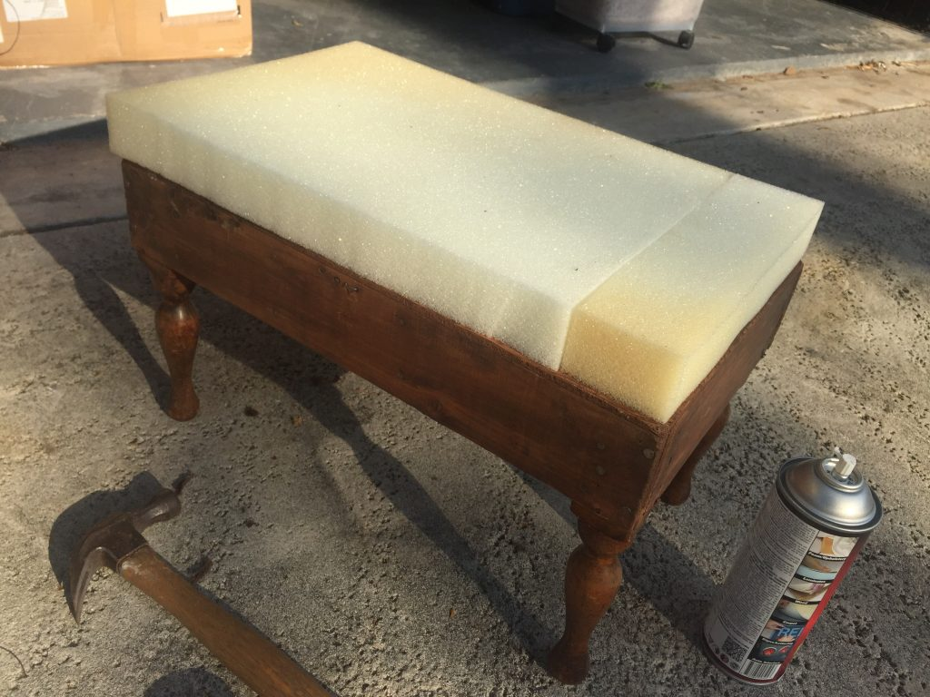New foam on the old footstool