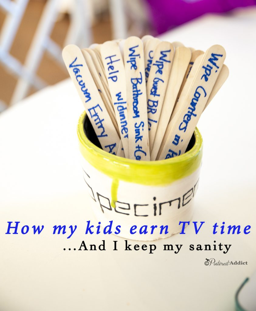 How my kids earn tv time by doing chores - I swear this idea is genius!