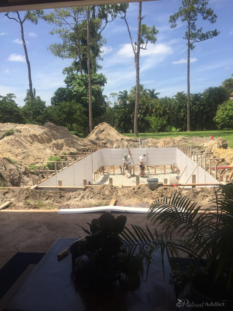 What to expect when you build a pool - framing out the pool