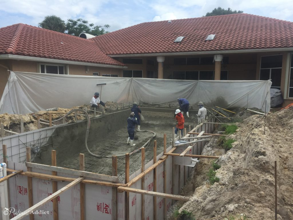 What to expect when you build a pool - concrete blown in to create shell